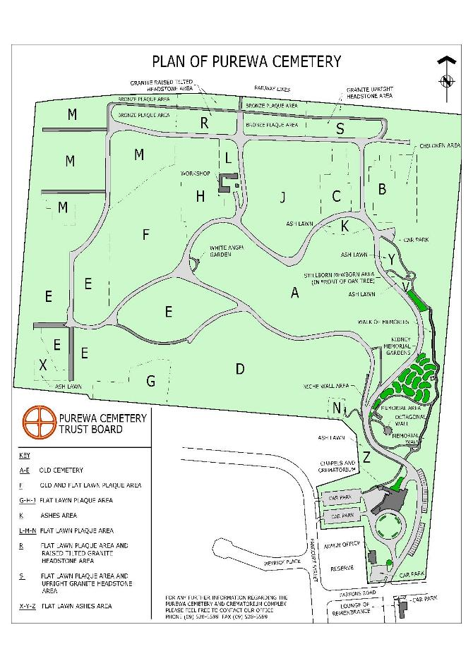 Map of Purewa Cemetery